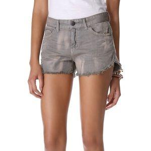 Free People Grey Cutoff Shorts